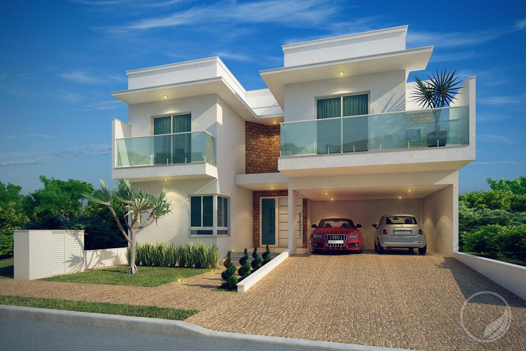 Projeto com arquitetura moderna localizada no Condomínio Ibiti do Paço - Arquitetos em Sorocaba